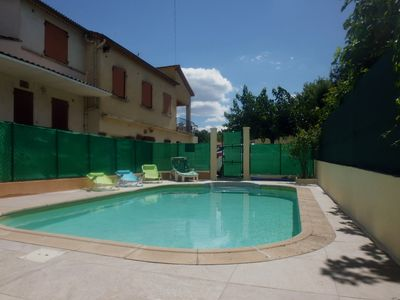 Photo for South of France, Cévennes, Anduze cottage 6/7 people, Pool, air conditioning, w