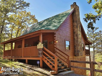 Photo for 2 Bedroom, 2 Bathroom Log Cabin with Beautiful Mountain Views and Game Room