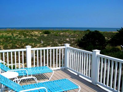 Wonderful 2nd floor sun deck with unobstructed views of the Ocean.