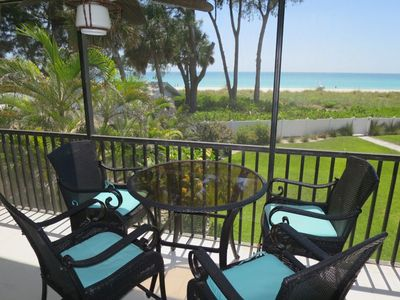 Photo for Gulf-front 2 bedroom, 2 bath condo with a heated pool!!