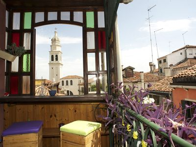 Photo for Beautiful attic 3 minutes from Piazza San Marco with a large roof terrace