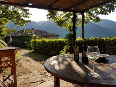 Photo for Villa + pool near Florence. La Casaccia . Sleeps 6+ 2 babies. Peace and views