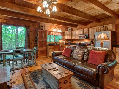Photo for NEW LISTING! Rustic tree-lined retreat w/ privacy - close to hiking & fishing