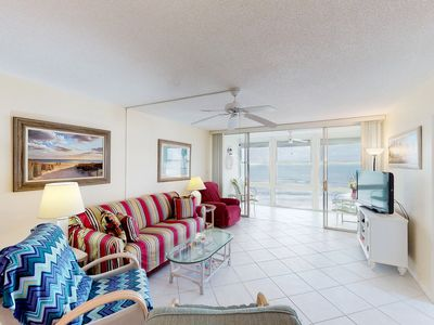 Photo for NEW LISTING! Ocean-front condo w/shared pool & Gulf views- steps from the beach!
