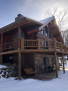 Photo for Beautiful Vacation Rental - Real Hand Scribed Log Home on Lovejoy Lake