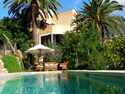 Poolside view of the house