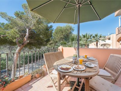 Photo for BURGIT - Modern apartment located 80 metres from the paradisaical cove of Cala Barca Trencada