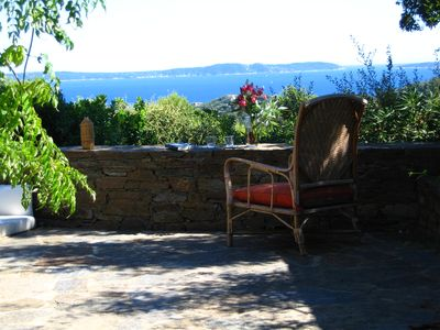 Photo for PRIVATE AREA GAOU BENAT, VERY BEAUTIFUL HOUSE FACING THE SEA, CALM NATURE SOLEIL