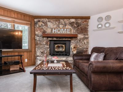 Photo for Mammoth condo with open floor plan, wood burning stove, and resort amenities--close proximity to Can