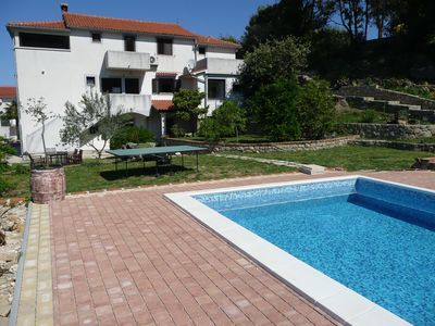 Photo for Holiday apartment with outdoor pool, tennis court and table tennis