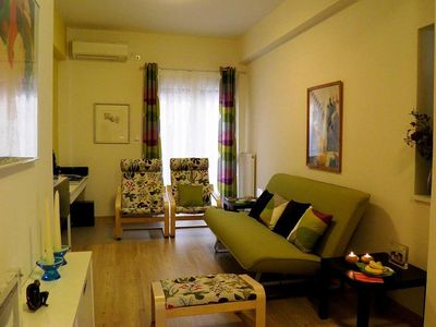 Photo for Apartment 721 m from the center of Athens with Internet, Air conditioning, Lift, Washing machine (396155)