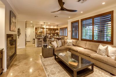 Open concept common area that is perfect for entertaining large groups