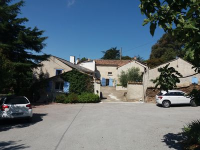 Photo for Family cottage with panoramic views of Carcassonne, spa, enclosed garden