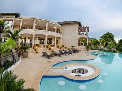 Photo for Luxury Villa/Ocean & golf view/Private pool & jacuzzi/Game Room/Grill/FreeWIFI