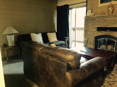 Photo for Affordable mountain condo (WiFi, private deck) in town - Short Walk to Shuttle