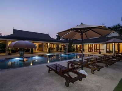 Photo for 1900m2 private villa with big pool, perfect for families & free WiFi. In Hua Hin