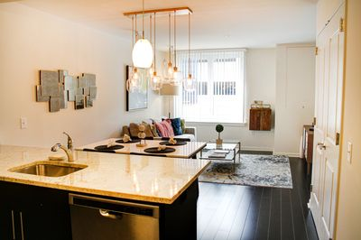 Kitchen Island and Apartment View
