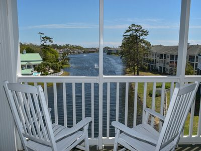 Photo for Enjoy stunning views!  3 bedroom 2 bath lakefront penthouse villa. Ocean Keyes.