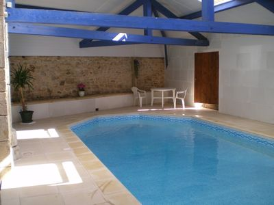 Photo for Spacious apartment, indoor pool, charming heritage town house
