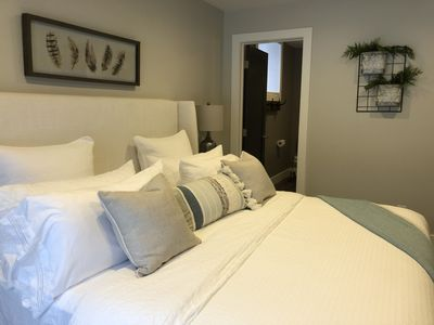 Master bedroom with King size bed , Large walk in closet and Master bathroom