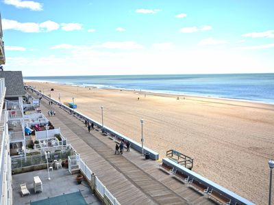 Photo for Upscale, stylish 1 bedroom oceanfront condo with free WiFi, indoor pool, and a breathtaking ocean view located downtown right on the boardwalk and steps from the beach!