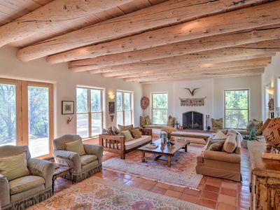 Photo for Custom Taos Home on 11 Acres w/ Outdoor Fire Pit!