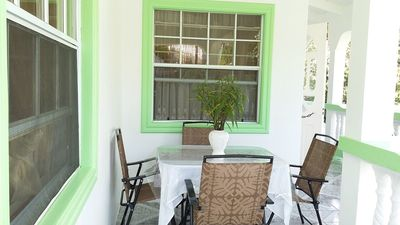 Enjoy the comfort; the cool atmosphere at the front balcony.