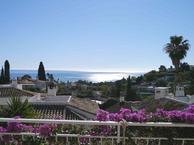 Photo for CHARMING SEMI-DETACHED HOUSE - OUTSTANDING SEA VIEW - BENALMADENA PUEBLO.