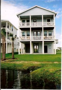 Lagoon View of the Cottage - 2 levels of balconies!