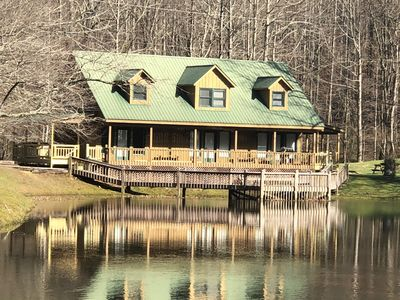 Photo for Lakefront Lodge with Loft Bedroom, Sleeper Sofa, One Bath