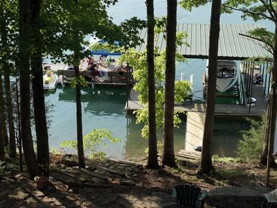 Photo for Hurricane Hideaway - Private covered dock w/swim platform, Extra Bunk House perfect for multiple cou