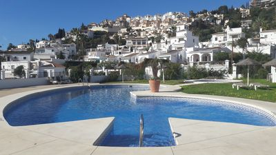 Photo for BEAUTIFUL HOUSE WITH STUNNING VIEWS, PRIVATE GARDEN AND COMMUNITY.SWIMING POOL