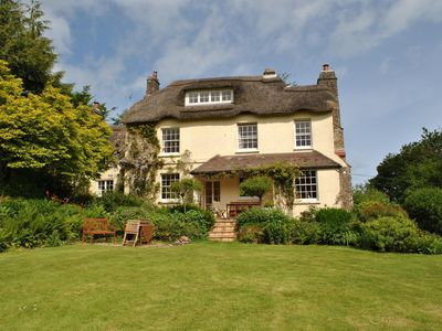 Photo for North Devon thatched house privately set 4 acres great for families dogs welcome