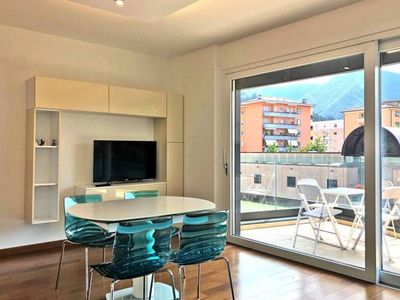 Photo for Modern Two-Room Apartment with a Large Terrace close to Lugano Center - ROGGIA 4