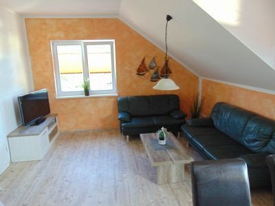 Photo for Apartment for 4 adults + 3 children + 1 toddler - apartment Nixentraum + FeWo beach lounge Louie