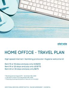 Home office Travel Plan