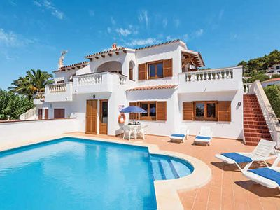 Photo for Fantastically located villa w/ Menorcan interior and gorgeous sea views