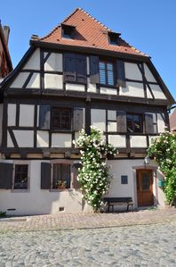 Photo for Half-timbered house of the 17th Century in the center of Bergheim, in the heart of the