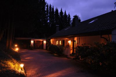 The Hunting Lodge by night