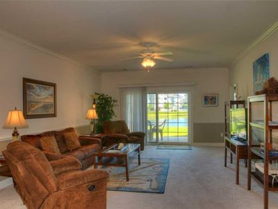 Photo for Homey ground floor lake view condo! Washer/Dryer & WiFi!