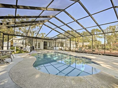 Photo for Waterfront Tampa House w/ Pool, Dock & Lake Access