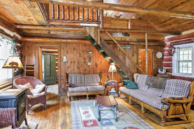 The cabin was originally constructed in 1880 and has retained its rustic charm.