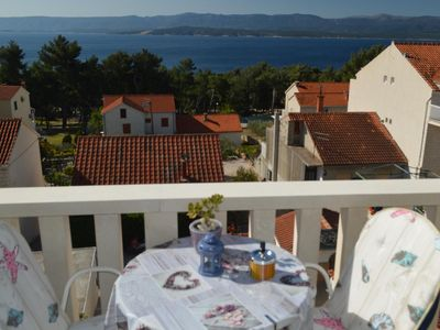 Photo for Studio flat with balcony and sea view Bol, Brač (AS-14493-a)