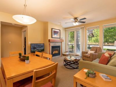 Photo for Patio Level Perfection | Sunny, Slopes Views | Ski In\Ski Out | Large Hot Tub & Amenities