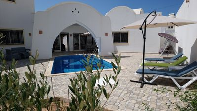 Photo for Luxury villa with pool and 3 bedrooms, furnished and equipped - Djerba Houmet Souk