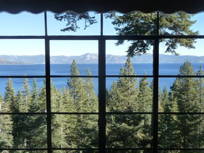 Photo for Pet & family-friendly vintage 'Old Tahoe' cabin--spectacular views of Lake Tahoe