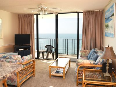 Photo for LOVELY AND UPDATED TWO BEDROOM OCEAN FRONT CONDO AVAILABLE NOW!