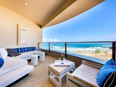Photo for Luxurious Oceanfront Condo w/ Views & Steps to Beach