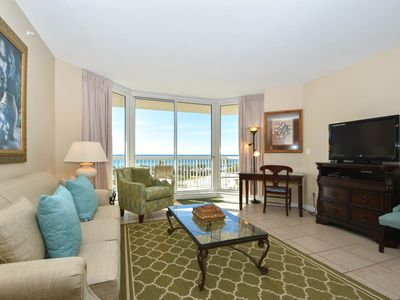 Photo for Beachviews from BOTH Bedrooms. Beachfront Condo. Includes Beach Service