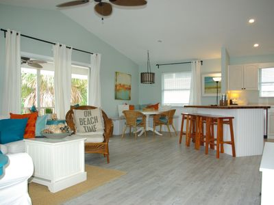 Photo for Just steps to the beach at Bean Point with partial water views from the home.